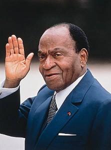 Félix Houphouet B. 1er Président de la Côte d\'Ivoire